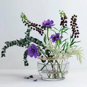Bouquet in Ikebana vase
