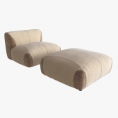 Arketipo Lotus Chair and Pouf