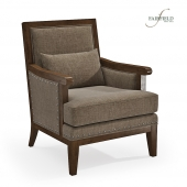Wood Framed Lounge Chair by Fairfield Chair