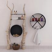 Shelves for sauna