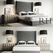 Lawson Custom Platform Bed Set / Restoration Hardware