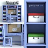 PotteryBarn, Preston Desk & Storage Wall System.