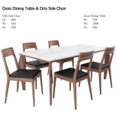 Gioia Dining Table & Orlo Side Chair