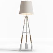 Nautical Tripod Oar Floor Lamp