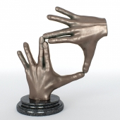 Figurine - bronze hands