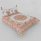 Одеяло в стиле пэчворк.