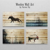 Wooden Wall Art by Parvez Taj