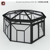 Зимний сад (№ 13) CMC 50 MODUS. Шатровый, с восьмискатной крышей, стоящий отдельно