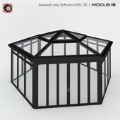Зимний сад (№ 16) CMC 50 MODUS. Шатровый, с шестискатной крышей, отдельно стоящий