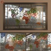 Stained Glass World map (World Map stained-glass window)