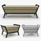 Niba home - Aaron bench and ottoman