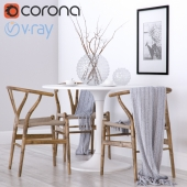 Wishbone chair CH24 & Ikea DOCKSTA