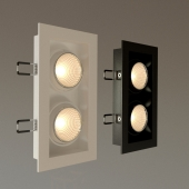 Recessed downlight DS-031BW80 QUATTRO x 2