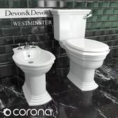 Toilet bowl and bidet Devon & Devon Westminster