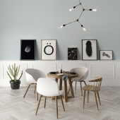 Hay table and chairs and decorative set