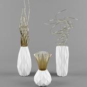 White bronze vase