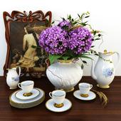 Чайный сервиз с цветами