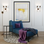 Set of furniture and lamps