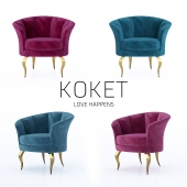 Armchair BESAME CHAIR by KOKET