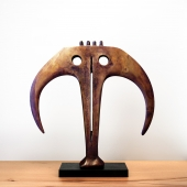GABRIELLE LAROCHE - Abstract Bronze Sculpture Circa