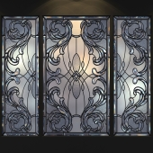 A set of stained glass.