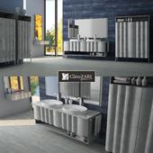 Bathroom furniture Zoe Gold, CORTEZARI, Italy