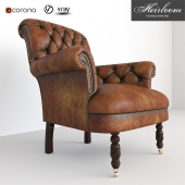 Classic Chesterfield 1 set sofa and footstand