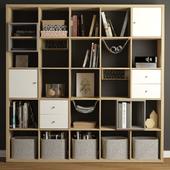 Kallax Ikea rack.