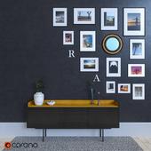 Sideboard with frames by Mario Ruiz