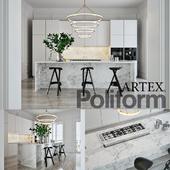 Кухня Poliform Varenna Artex 4 (vray GGX, corona PBR)