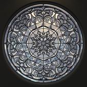 Stained glass round - Kaleidoscope