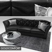 Goldconfort Vanity sofa - Roche Bobois Lingotto coffee table