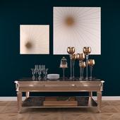 Golden decorative set