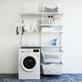 IKEA wall module Algot 8 / washing machine