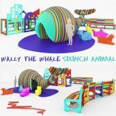Wally the Whale + SixInch Animal