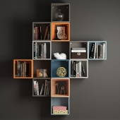 A combination of wall cabinets Eke Ikea.