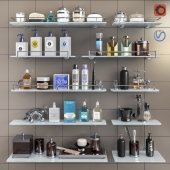Set of cosmetics, accessories and shelves for bathroom set 3