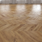 Oak Chevron floor