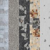 Terrazzo.Breccia.Mosaic.Marble.Seamless texture.