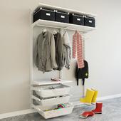 IKEA wall module Algot 9 / entrance hall