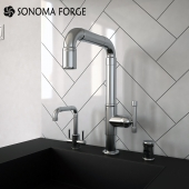 Sonoma Forge, Nickel Brut Faucet With Point of Use
