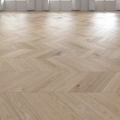 Oak Chevron light floor