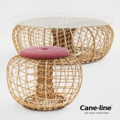 Rattan Nest - Table, Bench, Pouf & Footstool