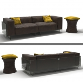 Luck set Glas Italia + Walter Knoll Bellows Low Table