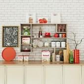 Kitchen set decor