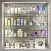 Accessories, decor and cosmetics for bathroom set 4