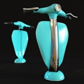 Kare table lamp scooter