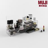 Set of cosmetics, MUJI drawers
