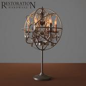 RH Foucault's orb smoke crystal table lamp