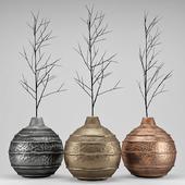 Set Metal Vases